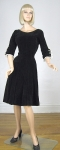 Curve Hugging Toni Todd Vintage 50s Velvet Full Skirt Dress