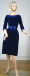 Blue Velvet Vintage 60s Suzy Perette Cocktail Dress 01.jpg