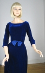 Blue Velvet Vintage 60s Suzy Perette Cocktail Dress 02.jpg