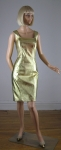 Metallic Gold Leather Vintage 80s Body Con Dress 01.jpg