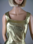 Metallic Gold Leather Vintage 80s Body Con Dress 03.jpg
