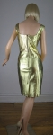 Metallic Gold Leather Vintage 80s Body Con Dress 04.jpg