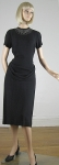 Black Vintage 40s Draped Waist Studded Crepe Dress 02.jpg