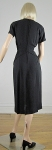 Black Vintage 40s Draped Waist Studded Crepe Dress 05.jpg