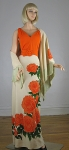 Amazing Vintage 70s Alfred Shaheen Hawaiian Dress