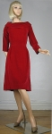 Lush Vintage 50s/60s Red Velvet Party Dress