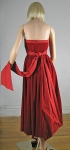 Lush Red Velvet Vintage 80s Strapless Dress 05.jpg