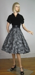 Atomic Vintage 50s Velvet & Full Skirt Flocked Party Dress