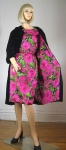 Amazing Rose Print Silk Cocktail Dress and Matching Coat