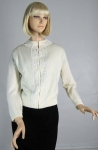Beautiful Cream Vintage 60s Beaded Cardigan Sweater