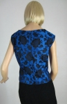Stunning Vintage 60s Rich Damask Top 4.jpg