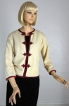 Lovely Vintage 60s Cream Cardigan Sweater