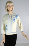 Utterly Pretty Vintage 60s Embroidered Cardigan Sweater