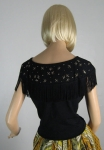 Black Fringed Vintage 50s Embellished Bug Top 4.jpg