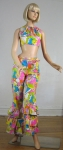 Unreal Vintage 60s Psychedelic Pants & Crop Top
