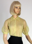 Super Sheer Vintage 50s Soft Yellow Blouse