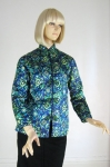 Exotic Vintage 60s Silk Jacket