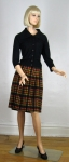 Geometric Plaid Vintage 60s Wool Pleated Skirt 03.jpg