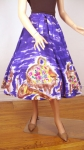Rare Vintage 50s Mexican Silk Circle Skirt w/Pigs!