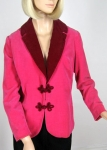 Lush Vintage 60s Hot Pink Velvet Bullocks Jacket