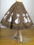 Vintage 50s Disney Lady and the Tramp Si & Am Circle Skirt