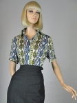 Slinky Vintage 70s Pucci for Chesa Shirt