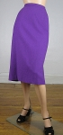 Saucy Purple Vintage 60s Wool Pencil Skirt