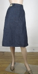 Western Denim Vintage 50s Dark Rinse Denim Skirt