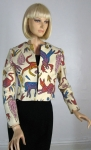 Whimsical Vintage 60's Novelty Print Jacket S/M