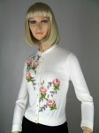 Pretty Vintage 60s Embroidered Floral Beaded Cardigan