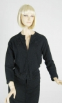Angora Beaded Vintage 60s Black Cardigan Sweater
