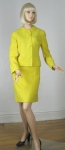 Sunshine Yellow Vintage Early 60s Suit