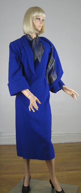 Signature Cobalt Blue Vintage 50s Dress & Jacket