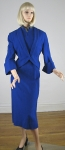 Signature Cobalt Blue Vintage 50s Dress & Jacket  02.jpg