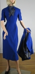 Signature Cobalt Blue Vintage 50s Dress & Jacket  05.jpg