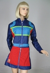 Amazeballs Vintage 90s Color Block Jacket and Skirt