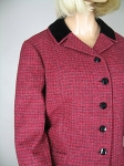 Tweed Raspberry Vintage 60s Velvet Trim Suit 04.jpg