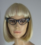 Amazing Vintage 50s Etched Winged Cat Eye Glasses