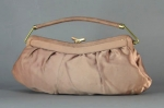 Pretty Vintage 50s Cafe Au Lait Satin Evening Bag