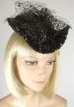 Dramatic Vintage 50s Sequined Percher Hat