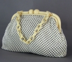Vintage 40s Mesh Bag with Chunky Plastic Hardware