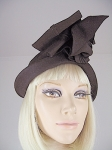 Very Sculptural Vintage 40/50s Brown Hat