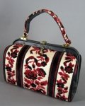 Tapestry Vintage 60s Meyers Velour Handbag Purse