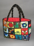Cute Novelty Motif Vintage 70s Needlepoint Handbag