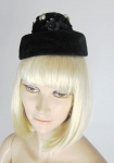 Adorable Embellished Vintage 60s Tiny Hat