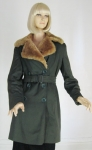 Faux Fur Trimmed Vintage 40s Coat