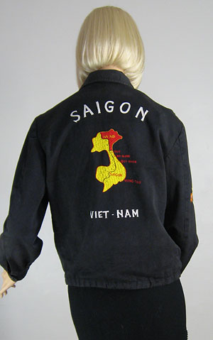 Embroidered Vintage  70s Vietnam Tour Jacket