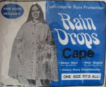 Polka Dot Vintage 60s Clear Rain Coat Cape 02.jpg