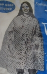 Polka Dot Vintage 60s Clear Rain Coat Cape 03.jpg