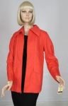 Super Orange Vintage 70s Sporty Spring Jacket